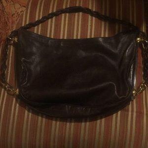 Unusual 1950s Fine Leather Italian Circle Bag